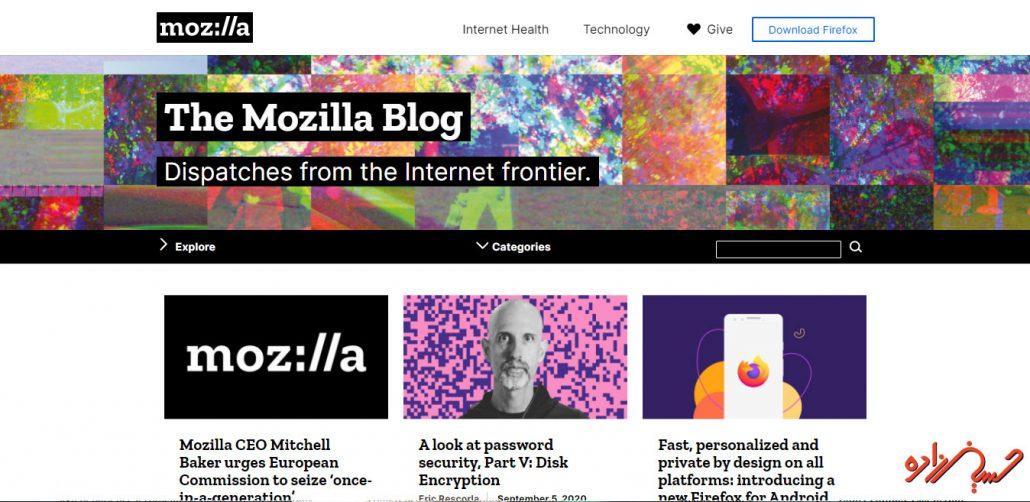 سایت معروف وردپرسی شرکت موزیلا