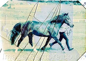 Broken glass and faded colour image restoration
