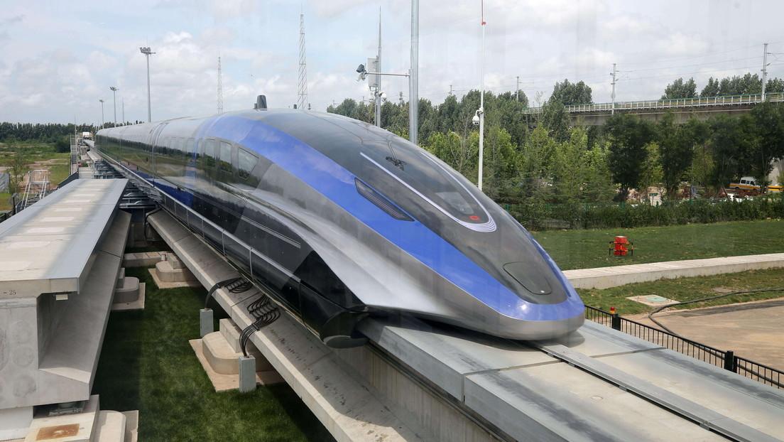 China estrena su nuevo tren tipo maglev capaz de alcanzar 600 kilómetros por hora