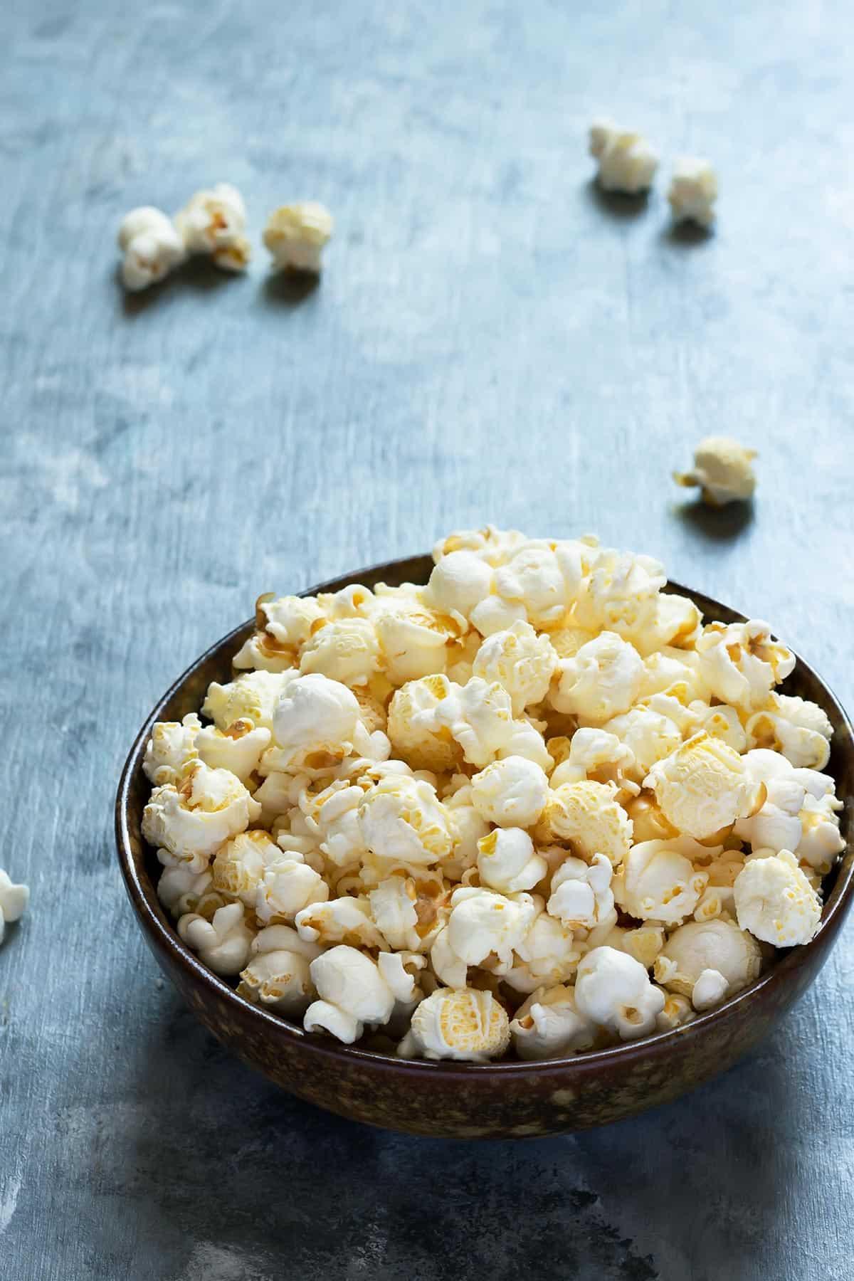 Bowl of Freshly Popped Popcorn