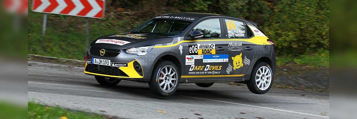 Timo van der Marel & Erwin Berkof - Opel Corsa-e - 3-Städte Rallye 2021