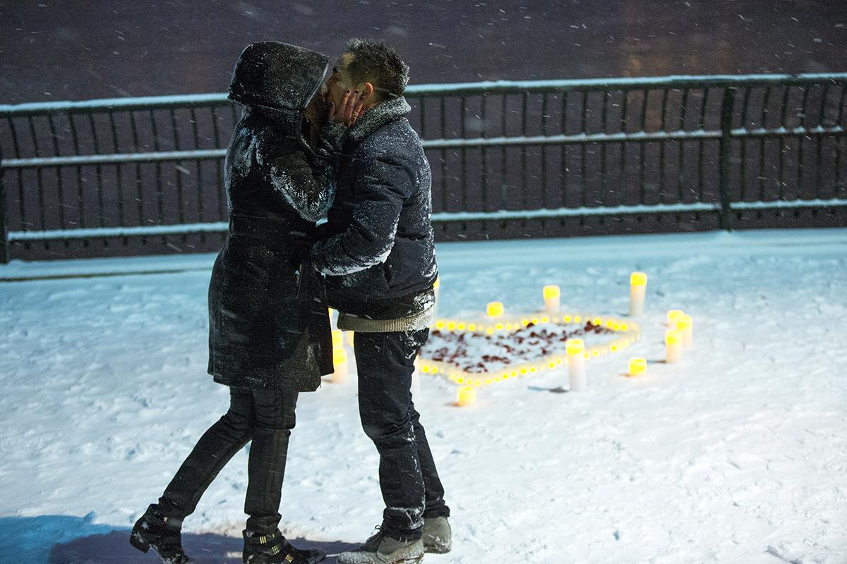 "Photo 10 Surprise proposal story ""Snowy Night""   VladLeto"