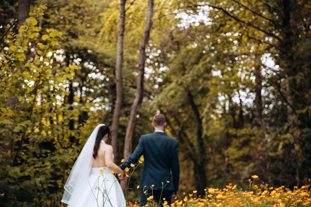 bride and groom portrait photographs at the woodman inn huddersfield