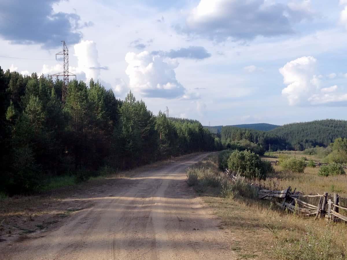 начало дороги на хребет Большой Шатак