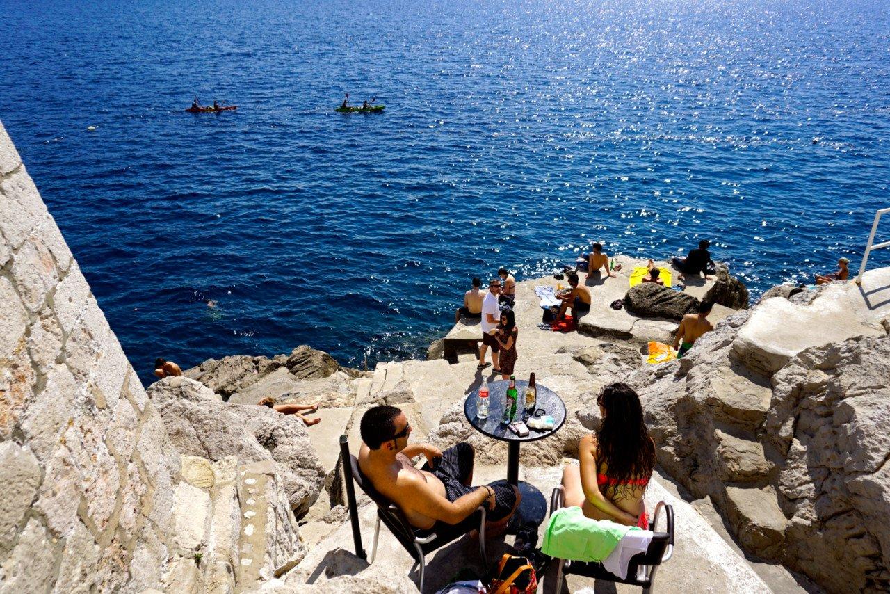 Cliff bar, Dubrovnik, Croatia - Experiencing the Globe