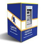 Genmega GT5000 Drive up ATM Kiosk Enclosure Single Panel Graphics