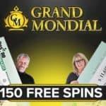 Grand Mondial Casino 150 free spins plus €250 free money bonus