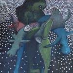 Karim Abu Shakra, State of Reality III,(2016), oil on canvas, 203 x 145 cm