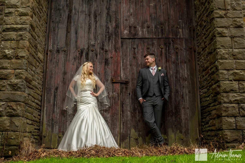 Romantic image of Bride & Groom during their Maes Manor Hotel wedding venue reception.