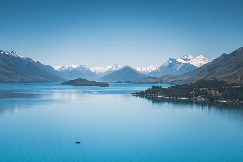 Blick auf den Lake Wakatipu kurz hinter Queenstown