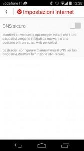 Disabilitare DNS Vodafone tramite App