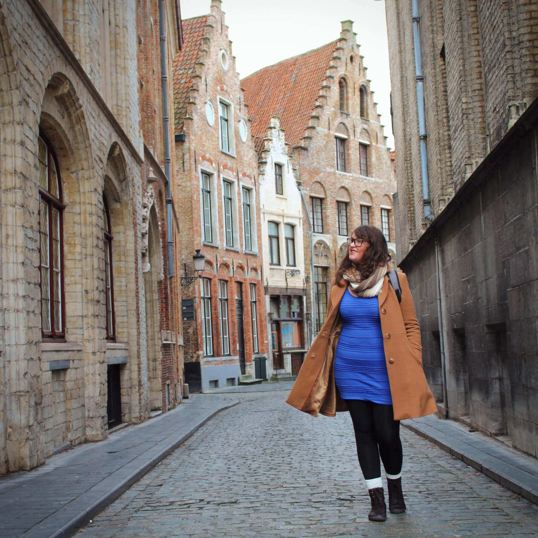 Wandering the streets of Brugges, Belgium.
