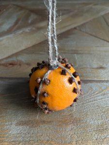 finished clove studded orange