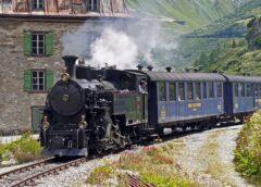 Foto: Wallis - Furka, Bergbahn