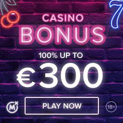 Get 300 EUR bonus and 5 EUR free bet!
