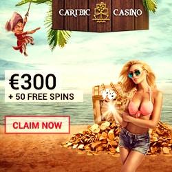 Caribic Casino 50 free spins NDB + 100 gratis spins + €300 bonus