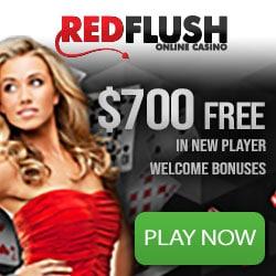 Red Flush Casino [review] 50 free spins plus €700 instant bonus