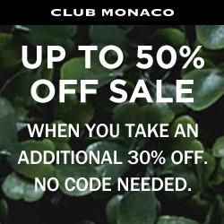 Club Monaco Sale Ad