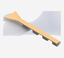 Pomosty cumownicze z drewnianą podłogą