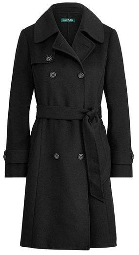 Lauren Ralph Lauren wool blend trench coat | 40plusstyle.com