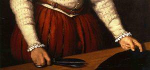 Particolare di un dipinto di Giovanni Battista Moroni, intitolato Il sarto