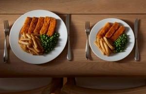 Portion size - unnecessary calories