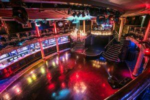 Christmas party venue disco ball