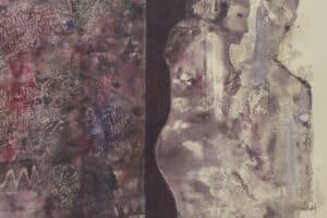 Tayseer Barakat, Intimacy, 2016, acrylic on canvas, 90 x 107 cm