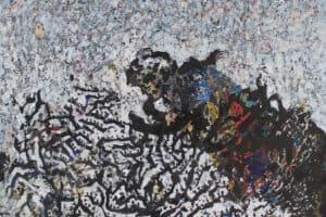 Tayseer Barakat, Flying High, 2015, acrylic on canvas, 150 x 122 cm