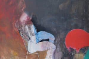 Hosni Radwan, Fragments, 2015, mixed media on canvas, 150 x 180 cm