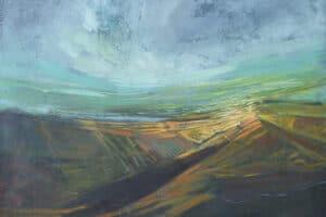 Rafat Asad, Marj Ibn Amer #2, 2014, acrylic on canvas, 120 x 100 cm