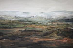 Rafat Asad, Marj Ibn Amer #23, 2015, acrylic on canvas, 100 x 138
