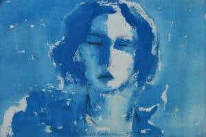 Shafik Radwan, Untitled, 2014, mixed media on canvas, 36 x 52 cm