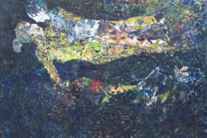 Tayseer Barakat, Ever Present Love I, 2015, acrylic on canvas, 100 x 120 cm