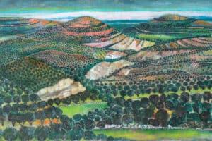 NABIL ANANI, Behind the Landscape, 2013, acrylic on canvas, 110 x 200 cm