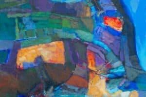Samir Salameh, Untitled, 2017, acrylic on canvas, 69 x 49 cm