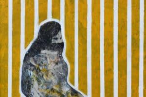 Tayseer Barakat, Separation #5, 2019, acrylic on canvas, 47 x 42 cm
