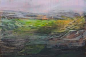 Rafat Asad, Marj Ibn Amer #12, 2015, acrylic on canvas, 80 x 90 cm