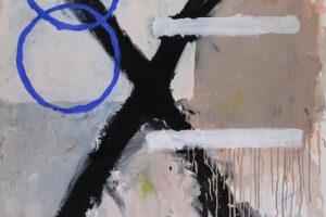 Saher Nassar, Conclusion (2018), acrylic on canvas, 150 x 100 cm