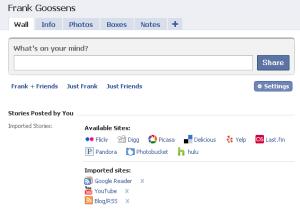 ik importeer in facebook