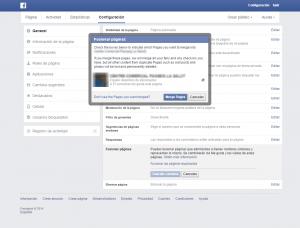 elegir pagina fusion facebook