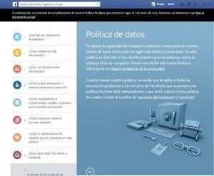 Politica datos facebook
