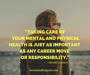mental and body care quote - gaining weight