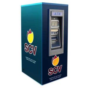 Genmega GT3000 Walk-Up ATM Kiosk Enclosure Wrap