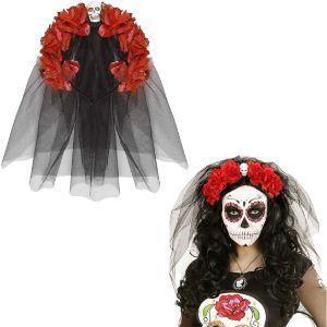Bisutería-Halloween-Complemento-calavera-mexicana-diadema-calavera-mexicana