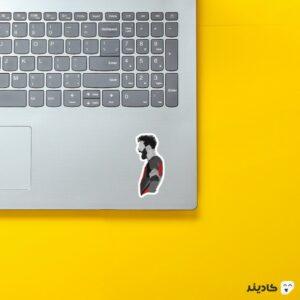 استیکر لپ تاپ لیونل مسی روی لپتاپ