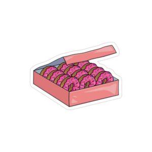 استیکر لپ تاپ مجموعه سیمپسونها - جعبه دونات