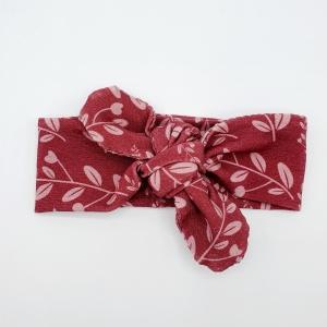 Wrap haarband pink leaves