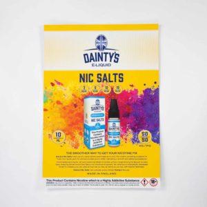 Dainty's Nic Salts POS Poster