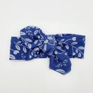 Wrap haarband blue leaves